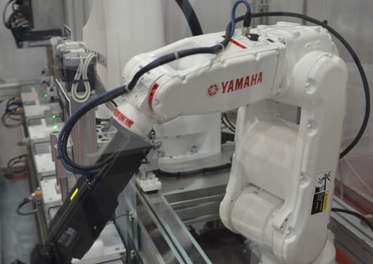Yamaha robot az Automotive Hungary kiállításon