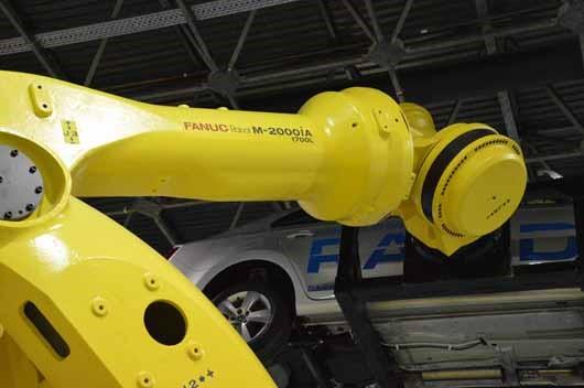 FANUC  M-2000iA/1700L robot az Ipari Napjai, Mach-Tech 2017. kiállításon