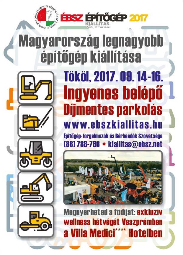 ÉBSZ Építőgép Kiállítás, 2017.09.14-16., Tököl
