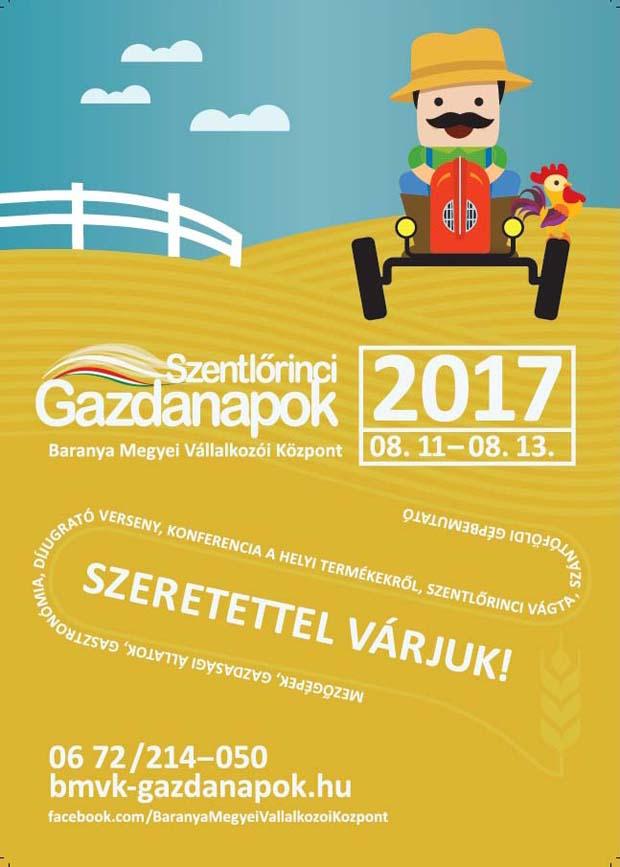Szentlőrinci Gazdanapok, 2017.08.11-13., Szentlőrinc