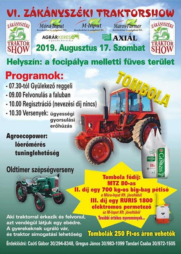 Zákányszéki Traktorshow, 2019.08.17., Zákányszék