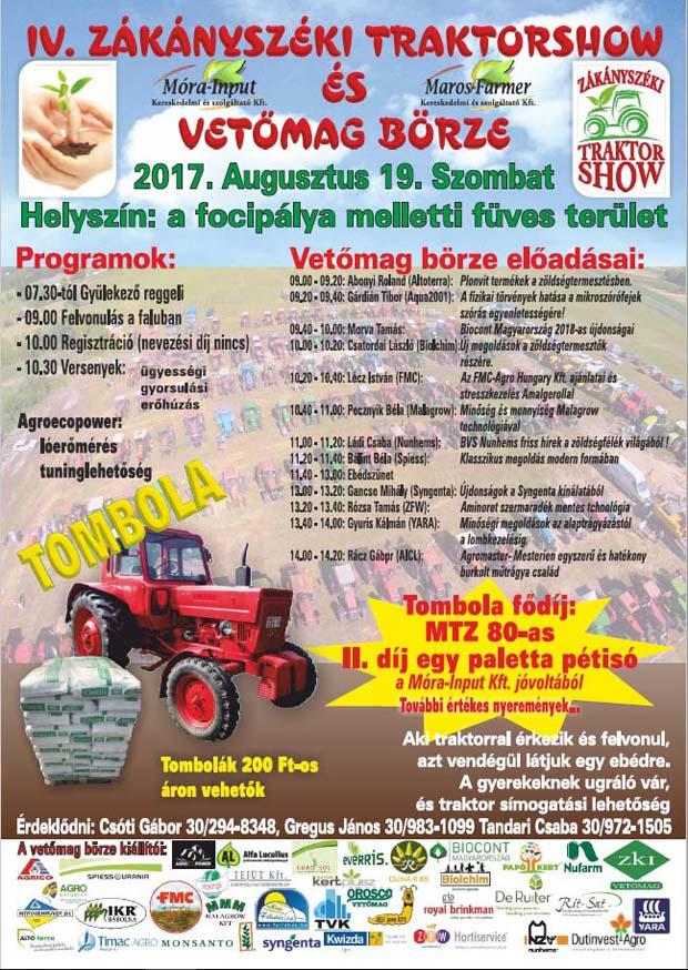 Zákányszéki Traktorshow, 2017.08.19., Zákányszék